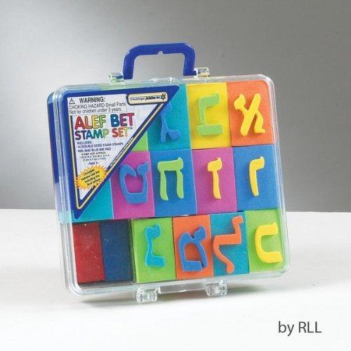 (Alef-Bet Hebrew Alphabet EVA Stamp Set in Carrying Case by Shulsinger Judaica)