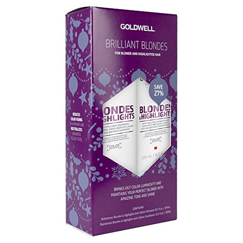 Goldwell Dualsenses Blondes & Highlights Anti-Yellow Shampoo & Conditioner 10.1oz Each Set
