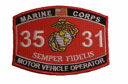Marine Corps 3531 Motor Vehicle Operator MOS Patch - Veteran Owned Business