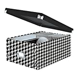 """Snap-N-Store Double Wide CD Storage Box, 6.125"""" x 10.5"""" x 14"""", Houndstooth (SNS03315)"""