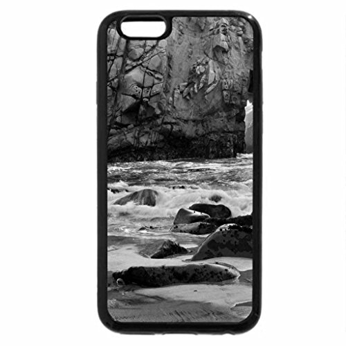 iPhone 6S Plus Case, iPhone 6 Plus Case (Black & White) - Sunset at Pfeiffer State Bay