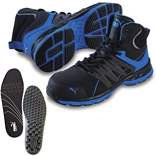 PUMA(プーマ) 安全靴 ヴェロシティ 28.0cm ブルー 中敷き インソール付セット 63.341.0&20.450.0  B07PQJ4L8T