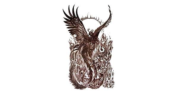 Tatuajes brillantes y lentejuelas-provisionales ave fénix que ...