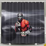 Shehe Floyd FM Boxer Home Seasons Non-transparent Bathroom Bath Curtain Includes Plastic Hooks. 72*78inch