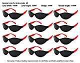 Edge I-Wear 12 Pack Kids Neon Party Sunglasses CPSIA Certified Lead (Pb) Content Free and 100% UV Protection (Made in Taiwan) 9446RA/R-12