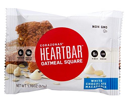 Heartbar Oatmeal Square, White Chocolate Macadamia Nut, 1.76 Ounce, 12 - Executive Bar