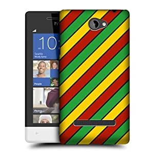 DIY Case Designs Diagonal Stripes Rasta Colour Patterns Protective Snap-on Hard Back Case Cover for HTC Windows Phone 8S by ruishername