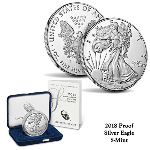 2018 S American Eagle One Ounce Silver Proof Coin $1 Perfect Uncirculated US Mint