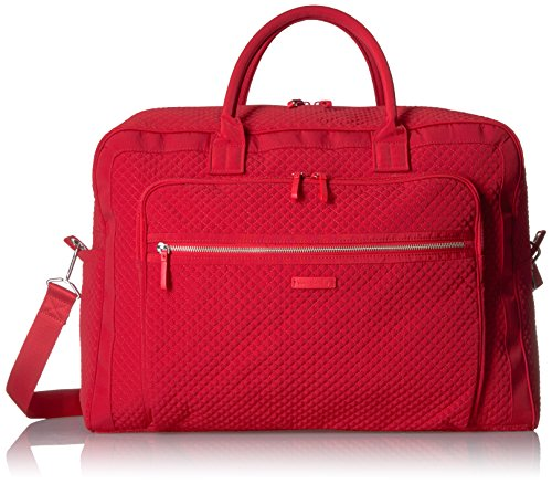 Vera Bradley Women's Iconic Grand Weekender Travel Bag Vera, cardinal red, One Size by Vera Bradley