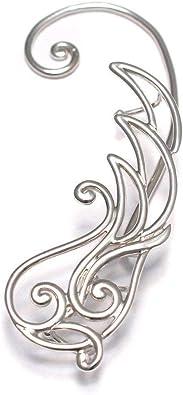 Blumen Pflanzen Ear Crawler 925 Sterling Silber, Ear climber