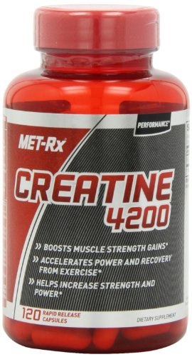MET-Rx Creatine 4200 Diet Supplement Capsules, 120 Count (Met Rx Creatine 4200 Diet Supplement Capsules)