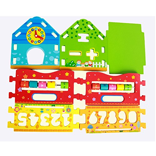 Baby Shape Sorting Houses TelPal Montessori Educational Toy Math Toy for Baby Kid's Gift, Novelty Educational Maths Game Wooden Toys by TelPal (Image #5)
