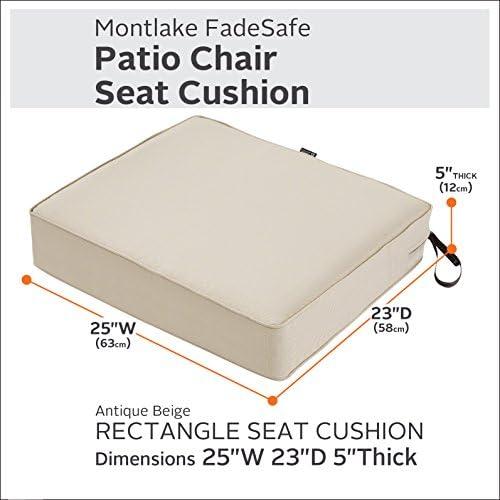 Classic Accessories 62-054-BEIGE-EC Montlake Patio Furniture Cushion - a good cheap outdoor chair cushion