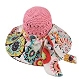 Sllxgli Hat female summer hollow breathable sun hat beach hat straw hat