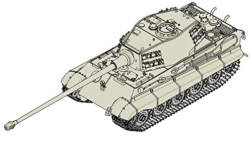 Trumpeter German King Tiger (Herschel Turret) with 105Mm Wk. Armor Model Kit