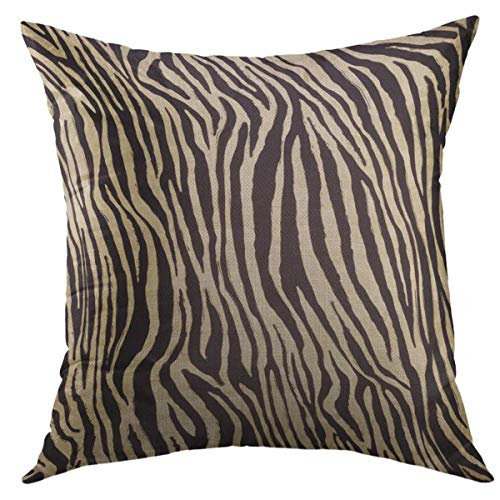 (Mugod Decorative Throw Pillow Cover for Couch Sofa,Black African Zebra Skin Home Decor Pillow Case 18x18 inch)
