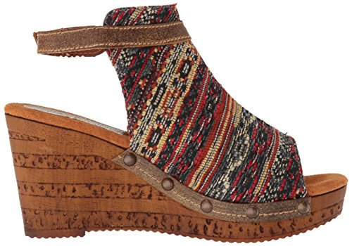 WoMen Sandal Sbicca Multi Brown Sabari Wedge TCwdxqqOaW