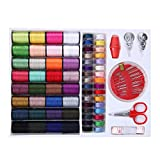 Ying Sewing Kit Measure Scissor Thimble Thread Needle Tape with Storage Box ...