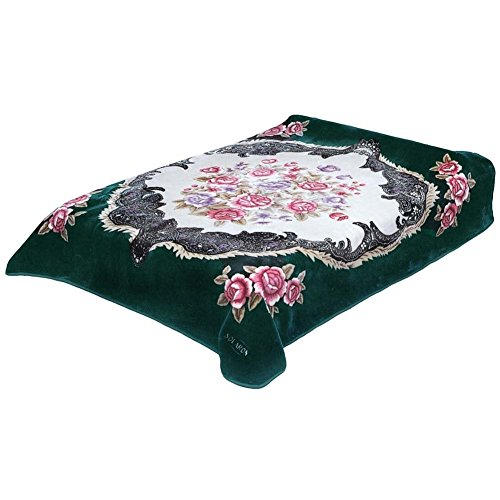 Solaron Queen Flower BM39 Korean Mink Blanket