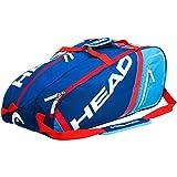 Head Core Combi 6 Racquet Bag Blue/Flame Red