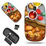 infrared dye - Luxlady Wireless Mouse Travel 2.4G Wireless Mice with USB Receiver, 1000 DPI for notebook, pc, laptop, computer, macdesign IMAGE ID 27636336 Easter sweet brioche colored eggs and liquid dye