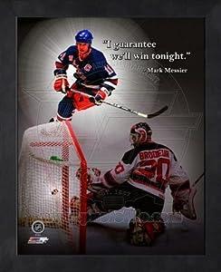 New York Rangers Mark Messier 8x10 Framed Pro Quote Photo