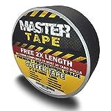 "Gaffers Tape - Premium Grade Professional Gaffer Tape, DJ Pro Gaff Tape Black - 2 inch X 60 Yards - Easy Tear Gaffing Tape Black - True 2"" Width"