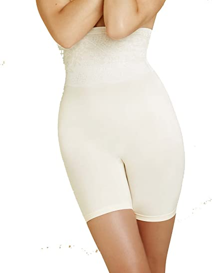 ea935a81eb4c Body Wrap Shapewear Ivory The Catwalk High-Waist Long Leg Panty 49590  X-Large/16 UK: Body Wrap: Amazon.co.uk: Clothing