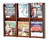 Wooden Mallet Divulge 6 Magazine Wall Display Storage Rack Mahogany electronic consumers