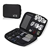 Hynes Eagle Travel Universal Cable Organizer Electronics Accessories Cases for Various USB, Phone, Charger and Cable, Black