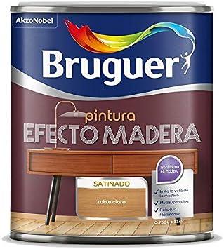 Esmalte efecto madera 750 ml. (Nogal oscuro)