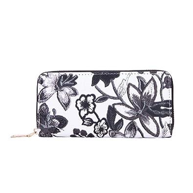 f17738d33d5 Amazon.com: HHei_K Women Retro Flower Embroidery Wallet Square Hand ...