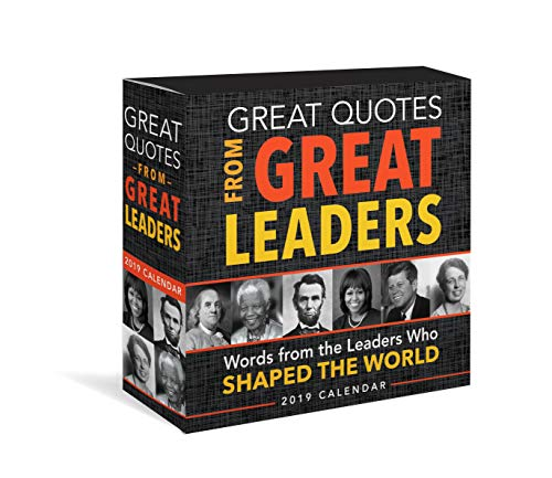 2019 Great Quotes from Great Leaders Boxed Calendar Daily Desk Calendar Box