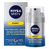 NIVEA Men Energy Lotion - Broad Spectrum SPF 15 Sunscreen for Face - 1.7 Fl. Oz. Bottle
