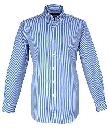 Ralph Lauren Camisa BD Bengala Stripe Button Down Azul Blanco Rayas