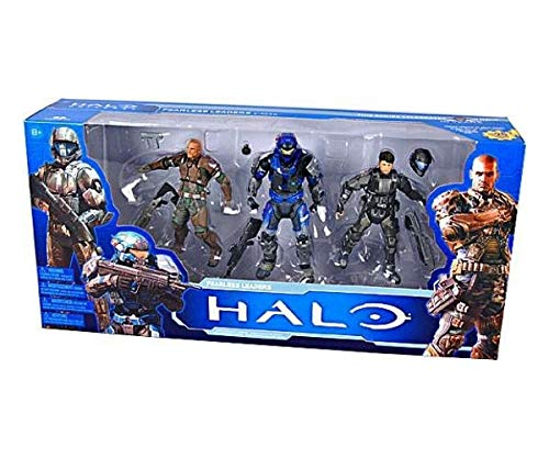 Halo McFarlane Toys 10th Anniversary Fearless Leaders Action Figure 3 Pack includes Spartan Forge and Spartan Carter ODST Buck
