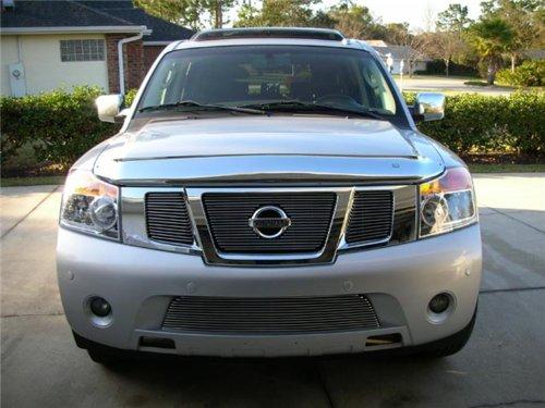 T-rex Nissan Billet Grille (TRex Grilles 21784 Horizontal Aluminum Polished Finish Billet Grille Overlay for Nissan Armada)
