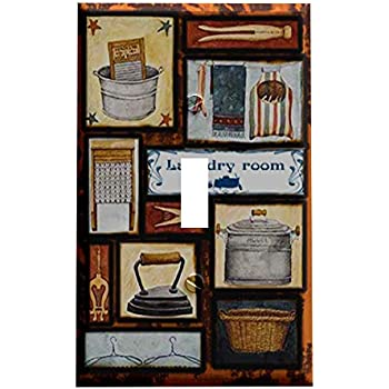 Art Plates Laundry Room Switch Plate Double Toggle