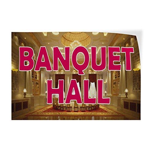 Banquet Hall Indoor Store Sign Vinyl Decal Sticker - 14.5inx36in, ()