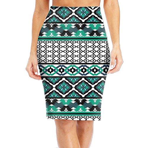 Tessellated Patterns - CAWHJDW Retro Arab Pattern Girl's Bodycon Pencil Skirts Elegant Short Skirts