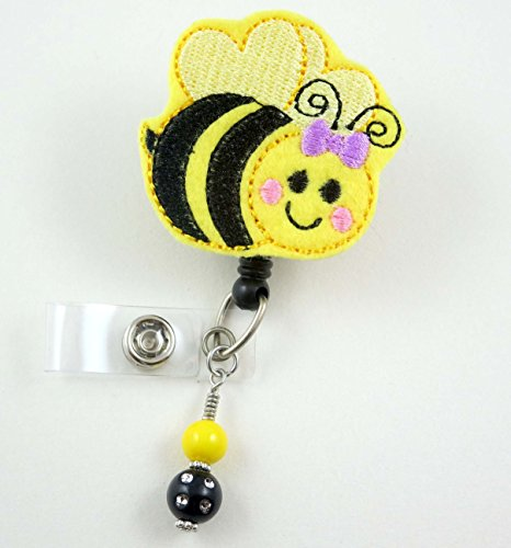 Cute Bumble Bee - Nurse Badge Reel - Retractable ID Badge Holder - Nurse Badge - Badge Clip - Badge Reels - Pediatric - RN - Name Badge Holder