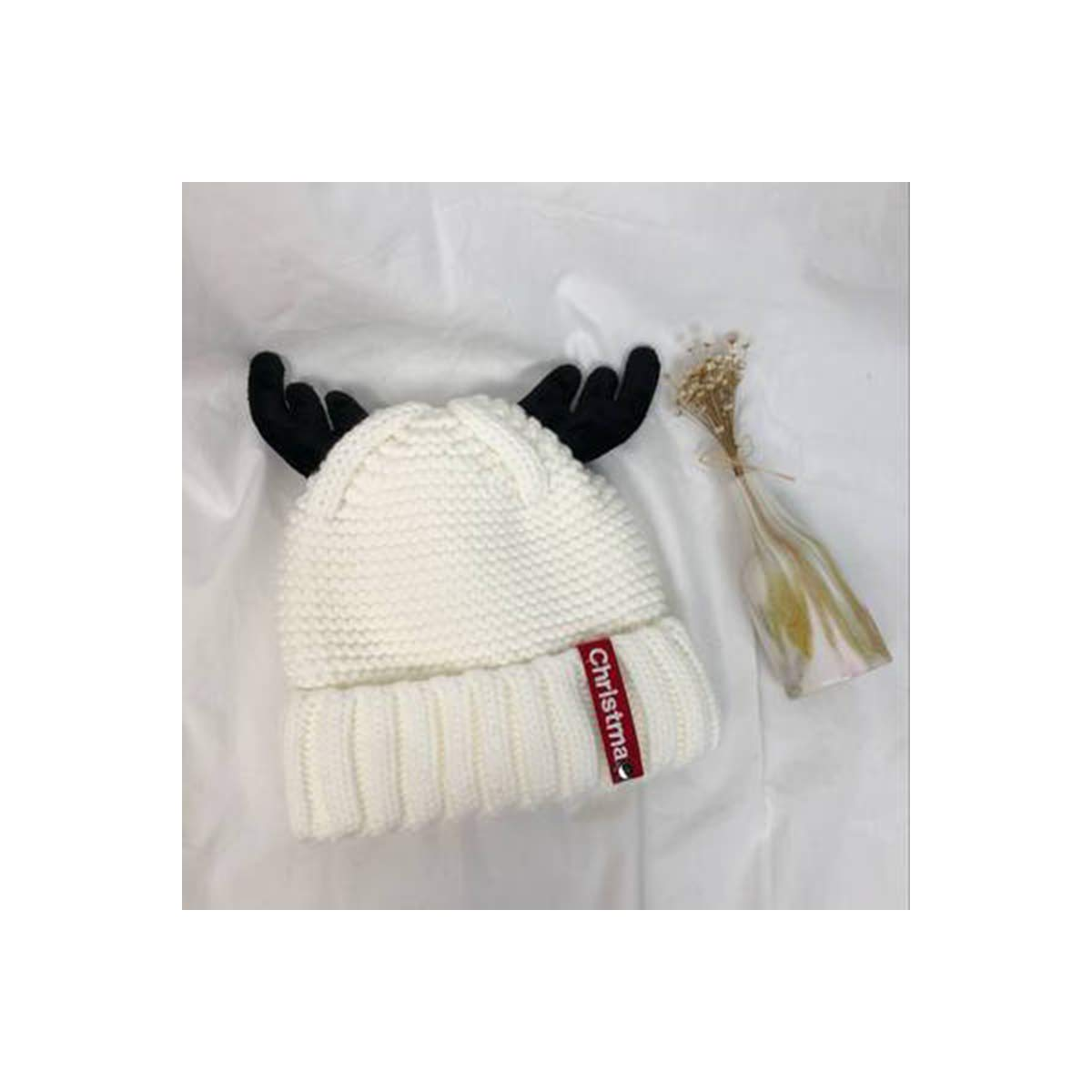 Elk Antler Wool hat Cute Female Warm Thickening Plus Velvet Knitted hat Christmas Year Thanksgiving Gift