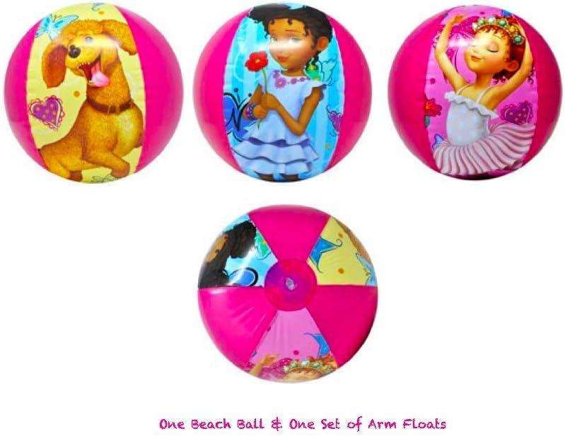 Disney Junior Fancy Nancy Beach Ball /& Arm Floats Pool Swimming Girls Set
