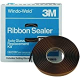 "3M 08621 Window-Weld 5/16"" x 15' Round Ribbon Sealer Roll, Pack of 6"