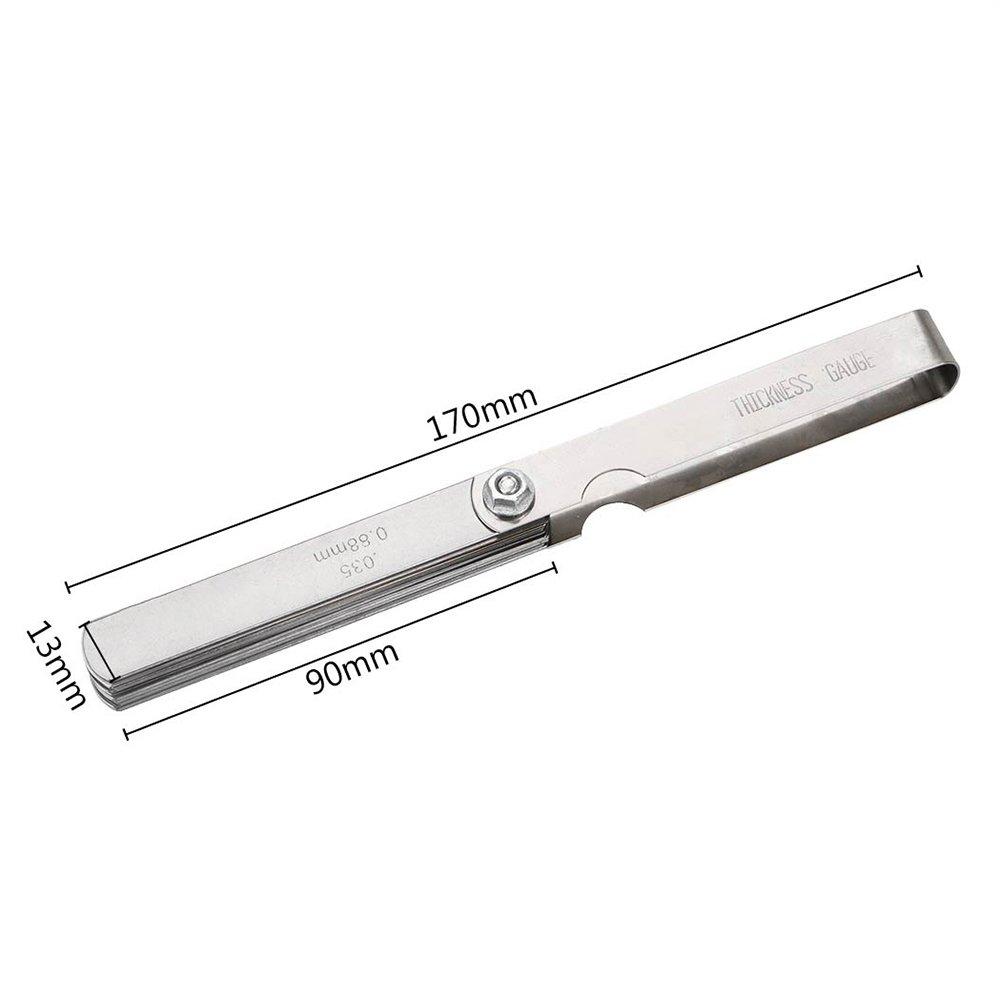 0,88/mm Tune Up Metrisches Imperial Messung Tools mit Messing Dicke Gap Set itimo diywork Filler 32/Klinge F/ühlerlehre 0,04