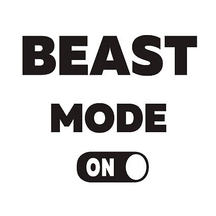 Dctop Beast Mode On Wall Decal Inspirationl Quotes Wall Sticker Fitness Center Self Motivation Workout Sticker Lettering Sticker Gym Room Decor