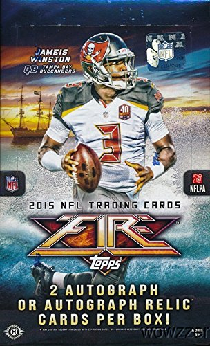 2015 Topps FIRE NFL Football Factory Sealed HOBBY Box with 20 Packs & TWO(2) AUTOGRAPH Cards!  Look for Rookie Cards & Autographs of Jameis Winston, Marcus Mariota, Todd Gurley & Many More! On FIRE!