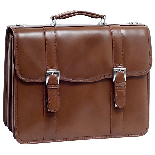 McKlein USA Flournoy Leather Double Compartment Laptop Case 85954 by McKleinUSA