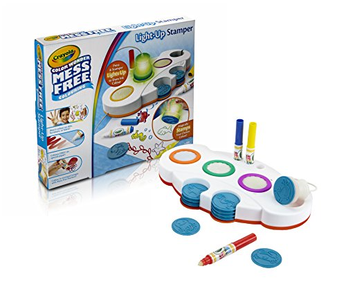 Crayola Mess Free Colour Wonder Light Up Stamper Art and Crafts Kit ()