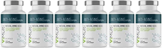 ViMulti Best Natural Amino Acid Anti-Aging Supplement for Longevity 6 Month Supply - Clinically Proven - Supports Mental Acuity, Immune System, Skin Tone, Endurance Energy